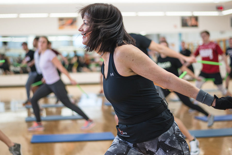 POUND group fitness class