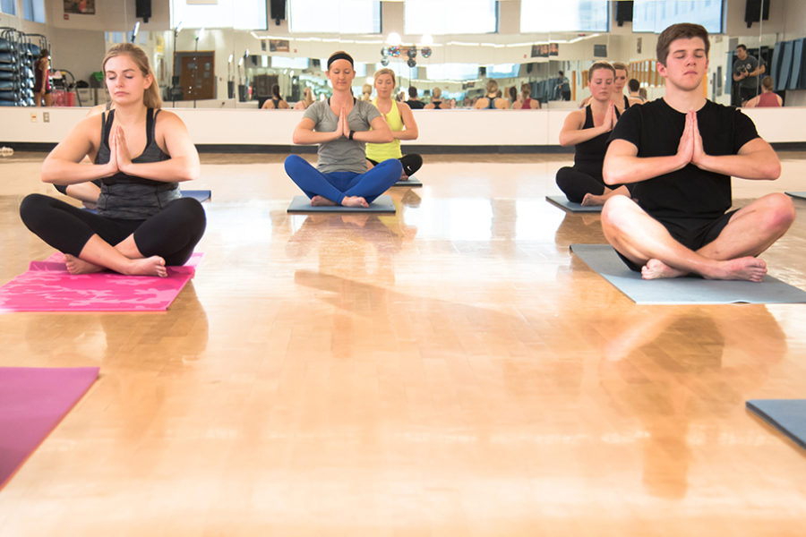 Yoga group fitness classes