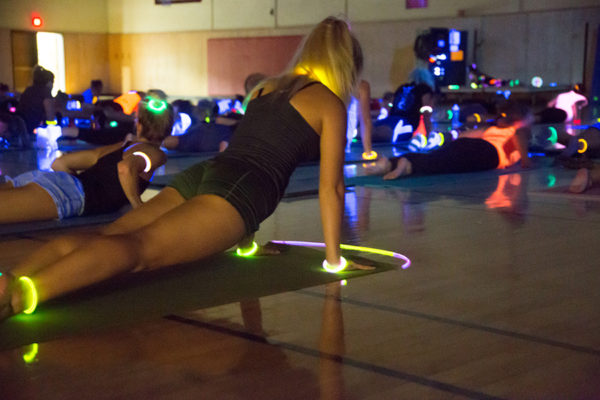 Glow-in-the-dark series yoga